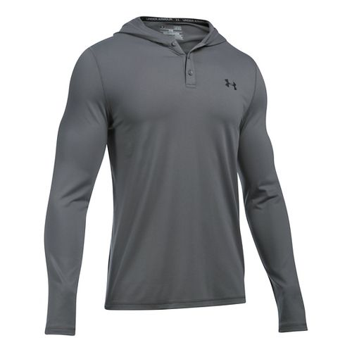 Mens Under Armour Lounge Hoodie & Sweatshirts Technical Tops - Graphite 5XL