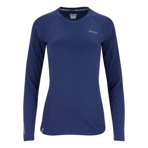 Womens Zoot Ocean Side Long Sleeve Technical Tops - Midnight/Midnight M