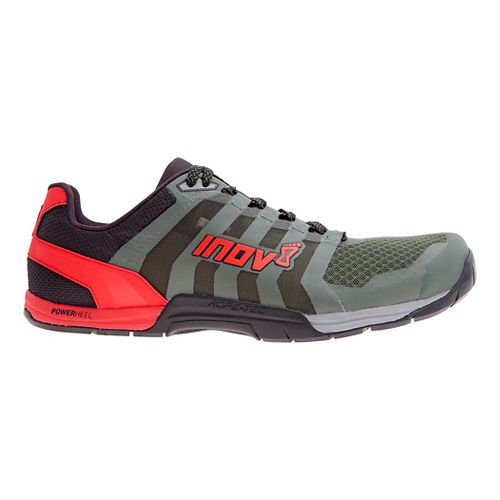 Mens Inov-8 F-Lite 235 v2 Cross Training Shoe - Dark Green/Red 14
