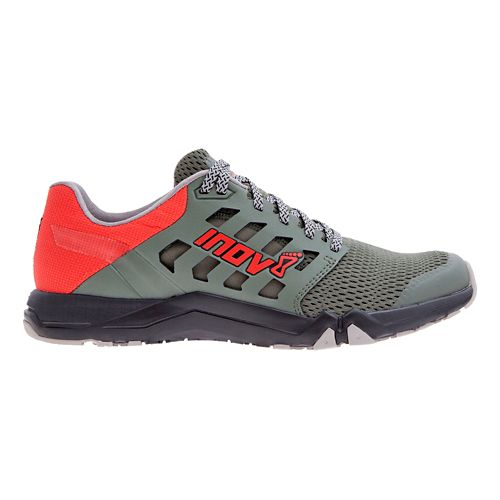 Mens Inov-8 All Train 215 Cross Training Shoe - Dark Green/Red 8.5