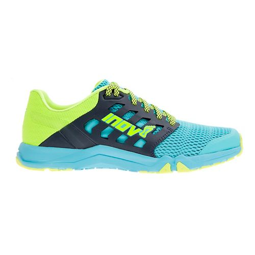 Womens Inov-8 All Train 215 Cross Training Shoe - Blue/Neon Yellow 10.5