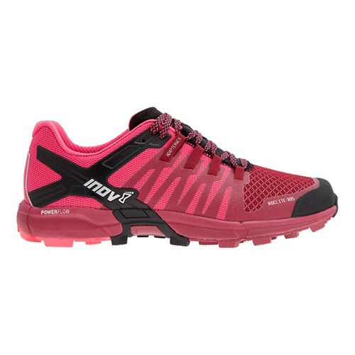 Womens Inov-8 Roclite 305 Trail Running Shoe - Dark Red/Pink 6