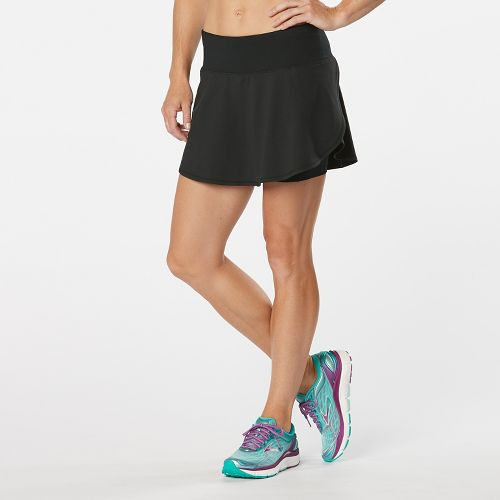 Womens Road Runner Sports PowerPlay Skort Fitness Skirts - Black M