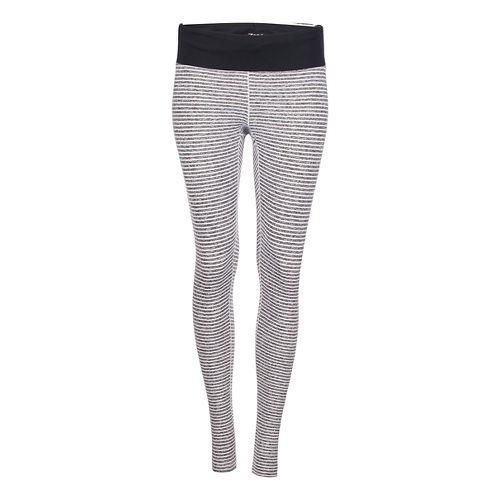 Womens Zoot Liquid Core Tights & Leggings Pants - White Stripe/Black S