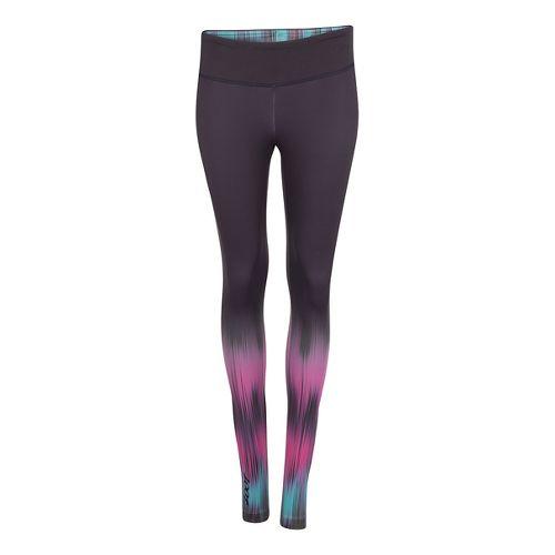 Womens Zoot Keep It Tights & Leggings Pants - Black/Good Vibes XL