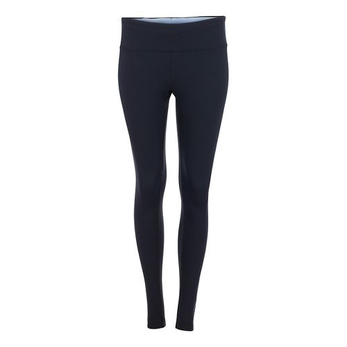 Womens Zoot Twin Fin Tights & Leggings Pants - Black/Shore Break L