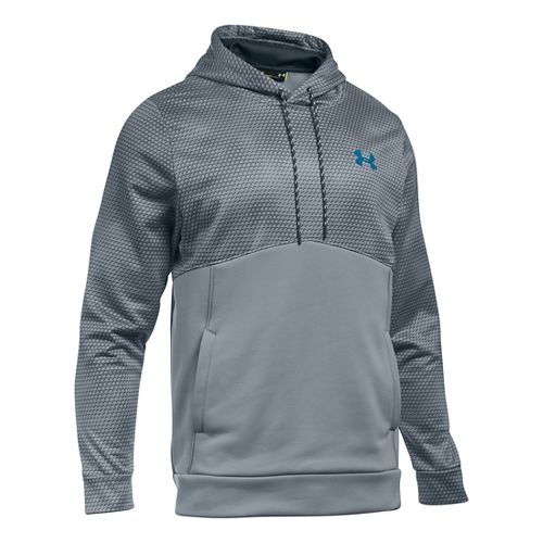 Mens Under Armour Storm Fleece Gameday Hoodie & Sweatshirts Technical Tops - Steel XXLR