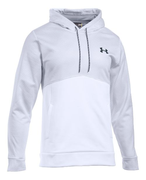 Mens Under Armour Storm Fleece Gameday Hoodie & Sweatshirts Technical Tops - White XXLR