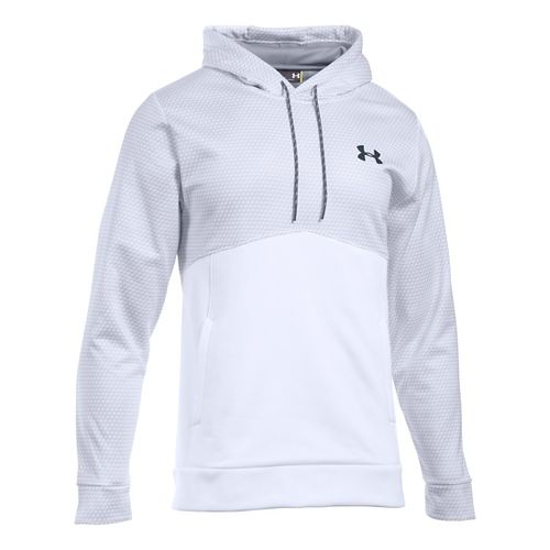Mens Under Armour Storm Fleece Gameday Hoodie & Sweatshirts Technical Tops - White XLR