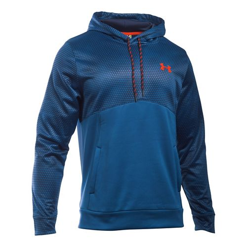 Mens Under Armour Storm Fleece Gameday Hoodie & Sweatshirts Technical Tops - Heron MR