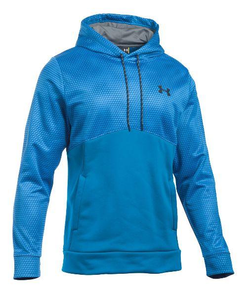Mens Under Armour Storm Fleece Gameday Hoodie & Sweatshirts Technical Tops - Brilliant Blue XLR