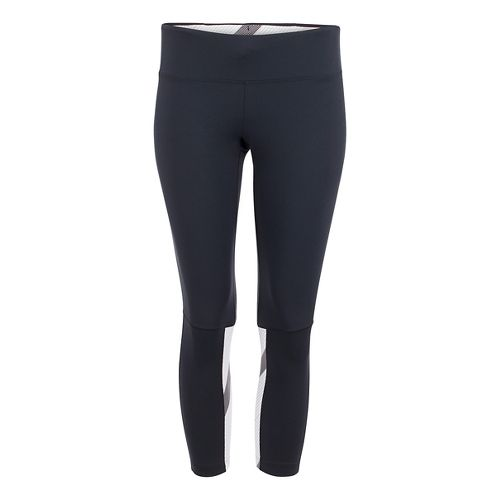 Womens Zoot Twin Fin Capris Pants - Black/Pipeline L