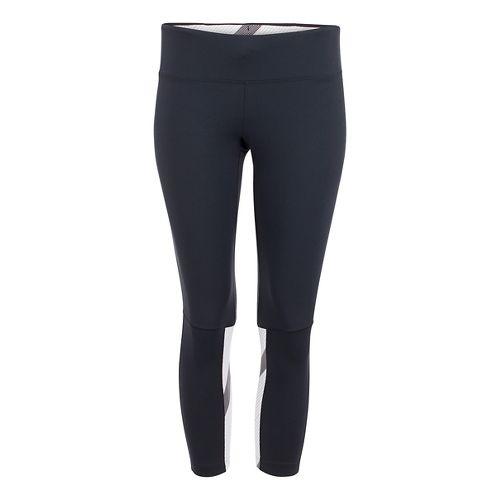 Womens Zoot Twin Fin Capris Pants - Black/Pipeline M