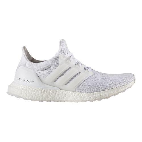 Mens adidas Ultra Boost Running Shoe - Triple White 10