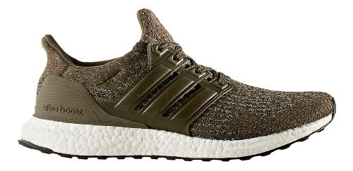 Mens adidas Ultra Boost Running Shoe - Olive/Khaki 8.5