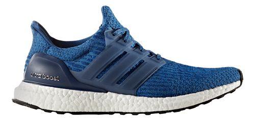 Mens adidas Ultra Boost Running Shoe - Blue/Black 14