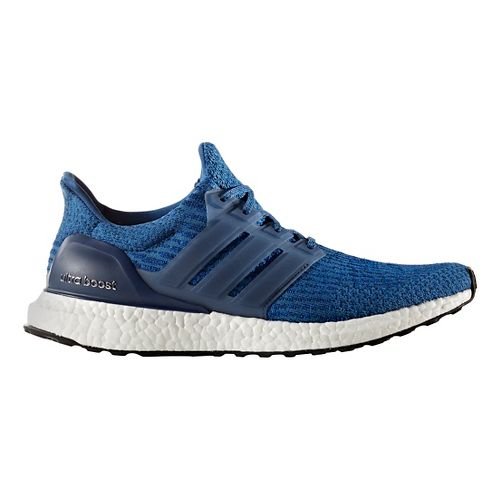 Mens adidas Ultra Boost Running Shoe - Blue/Black 10.5