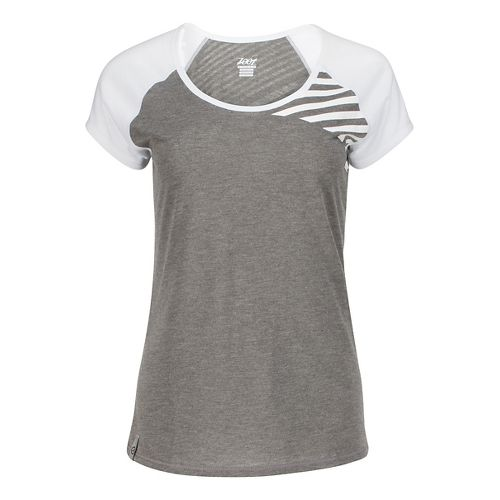Womens Zoot Sunset Ink Tee Short Sleeve Technical Tops - Graphite/White L