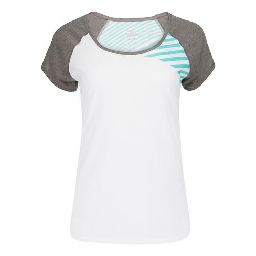 Womens Zoot Sunset Ink Tee Short Sleeve Technical Tops - White/Graphite XL