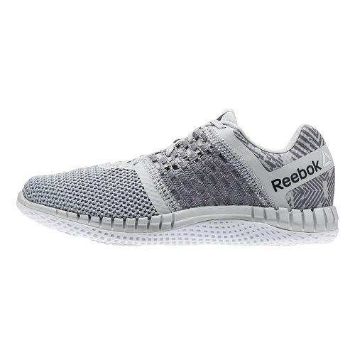 Womens Reebok ZPrint Run Hazard GP Running Shoe - Grey/White 8.5