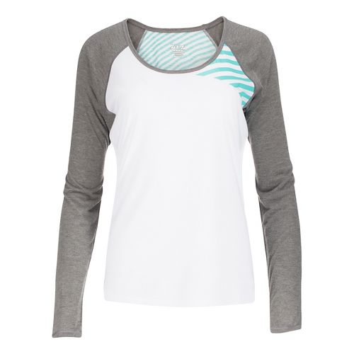 Womens Zoot Sunset Ink Long Sleeve Technical Tops - White/Graphite M