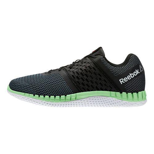 Womens Reebok ZPrint Run Running Shoe - Grey/Green 8.5