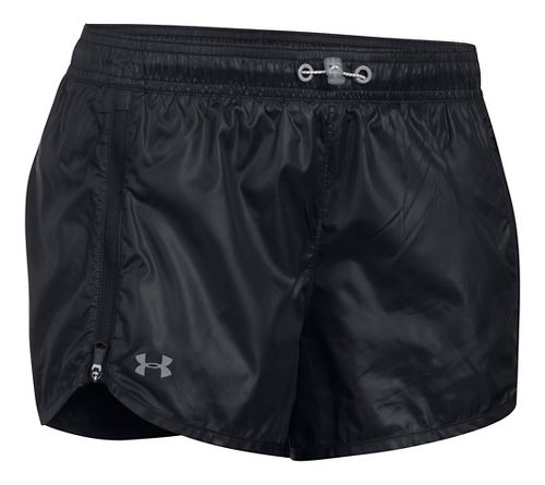 Womens Under Armour Accelerate Unlined Shorts - Black XS