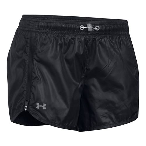 Womens Under Armour Accelerate Unlined Shorts - Black L