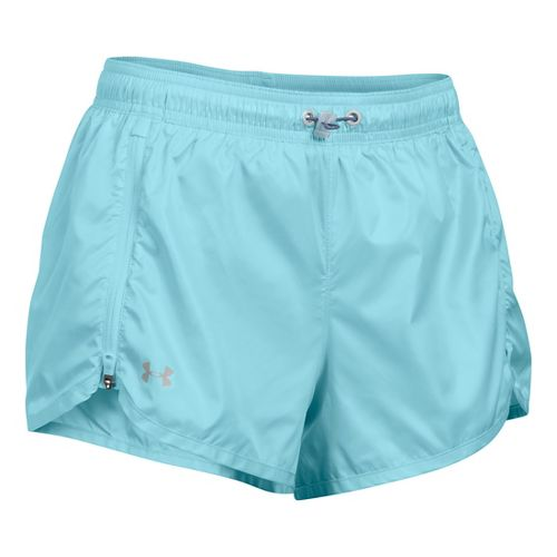 Womens Under Armour Accelerate Unlined Shorts - Maui M