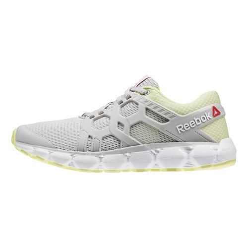 Womens Reebok Hexaffect Run 4.0 MTM Running Shoe - Grey/Yellow 7