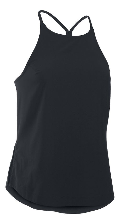 Womens Under Armour Accelerate Sleeveless & Tank Technical Tops - Black S