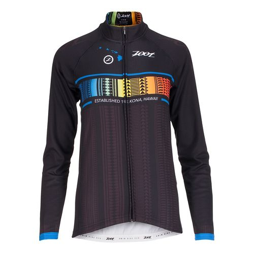 Womens Zoot Cycle Ali'i Thermo Jersey Long Sleeve Technical Tops - Flying Hawaiian L