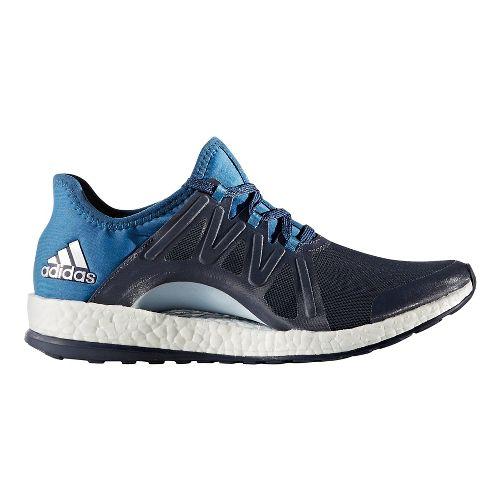 Womens adidas PureBoost Xpose Running Shoe - Midnight Grey/Blue 7.5