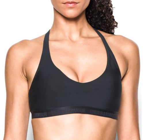 Womens Under Armour Low Strappy Sports Bras - Black XS
