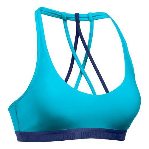 Womens Under Armour Low Strappy Sports Bras - Blue/Purple XL