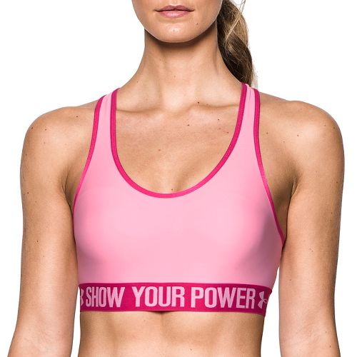 Womens Under Armour Mid Bra - PIP Sports Bras - Pink M