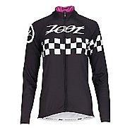 Womens Zoot Cycle Cali Thermo Jersey Long Sleeve Technical Tops