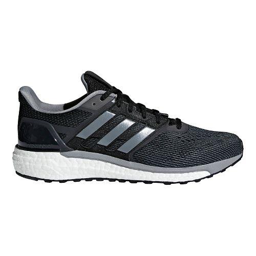 Mens adidas Supernova Running Shoe - Black/Black/Grey 13