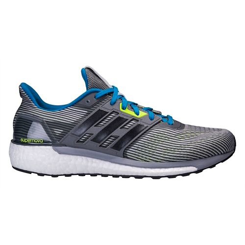Mens adidas Supernova Running Shoe - Black/Green 11.5