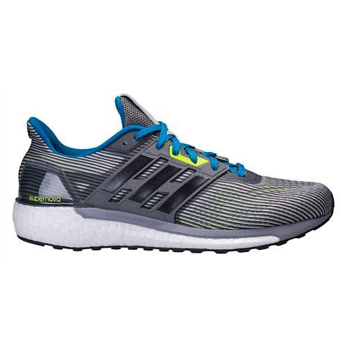 Mens adidas Supernova Running Shoe - Black/Green 6.5