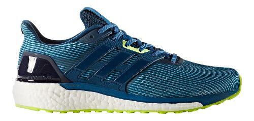 Mens adidas Supernova Running Shoe - Blue/Yellow 9