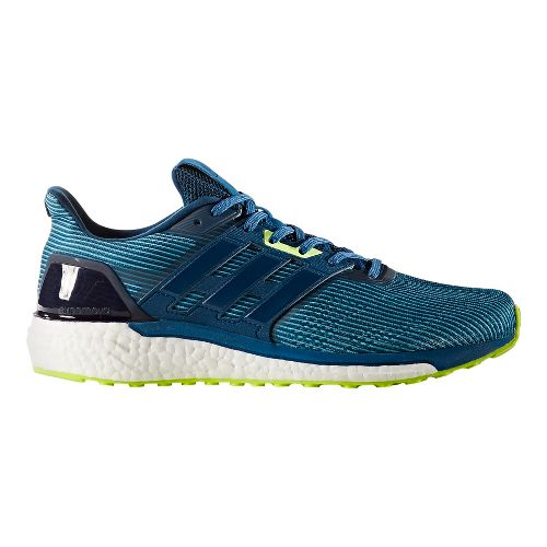 Mens adidas Supernova Running Shoe - Blue/Yellow 12.5