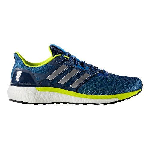 Mens adidas Supernova Running Shoe - Black/Green 8