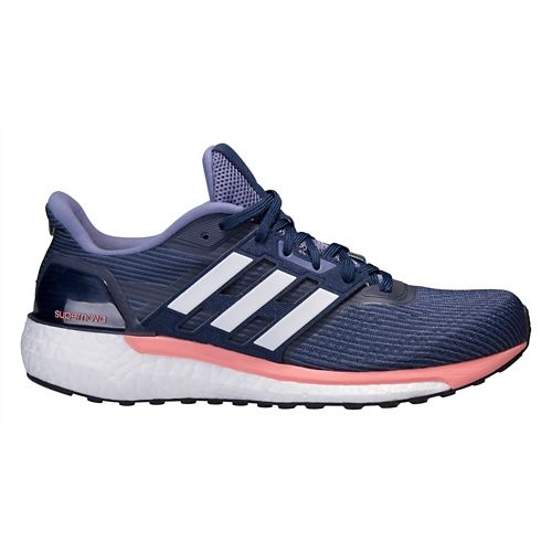 Womens adidas Supernova Running Shoe - Navy/Pink 7.5