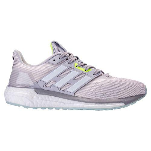 Womens adidas Supernova Running Shoe - Grey/Green 6.5