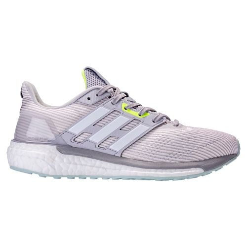 Womens adidas Supernova Running Shoe - Grey/Green 9.5