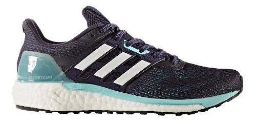 Womens adidas Supernova Running Shoe - Navy/Aqua 10.5
