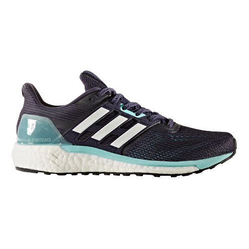 Womens adidas Supernova Running Shoe - Navy/Aqua 10
