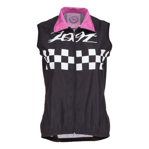 Womens Zoot Cycle Cali Wind Vests Jackets - Paradise Checker L