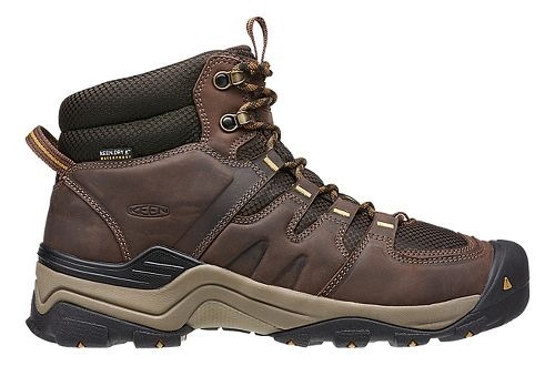Mens Keen Gypsum II Mid WP Hiking Shoe - Coffee/Bronze 13